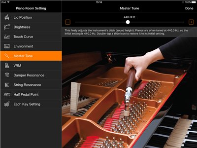 Concert grand piano sound at your fingertips