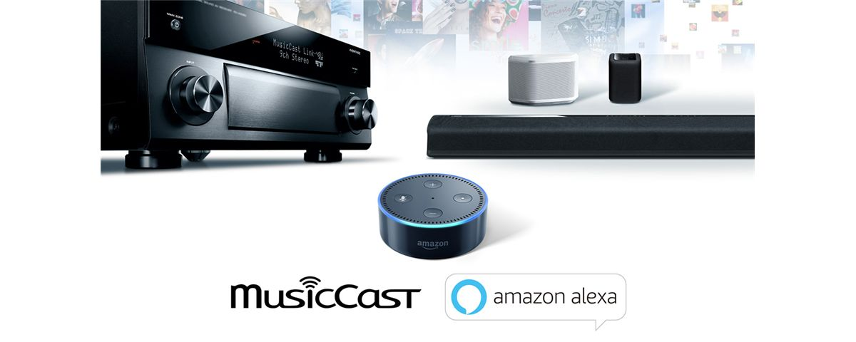 yamaha musiccast hangs on your every word amazon alexa voice control for multiroom system. Black Bedroom Furniture Sets. Home Design Ideas